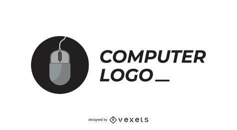 Computer Firmenlogo mit der Maus