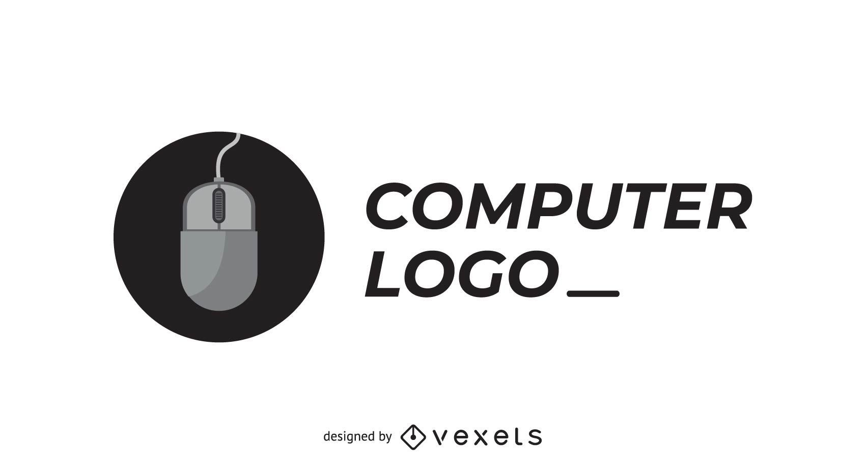 Computer company logo with mouse