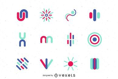 Logo vector graphic set