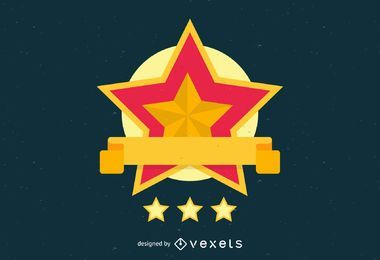 Gold star logo template