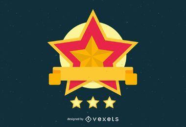 Modelo de logotipo de estrela dourada