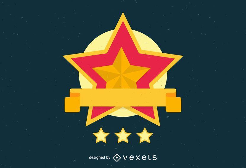 Goldene Sterne Logo Vorlage