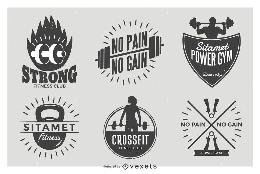 Conjunto de placa de etiqueta de levantamiento de pesas