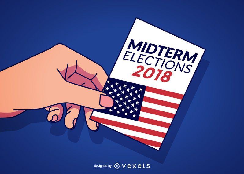 Ilustração de eleições de meio de mandato dos EUA