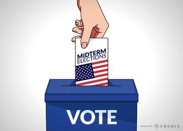 Ilustración de voto de Estados Unidos