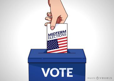 USA vote illustration