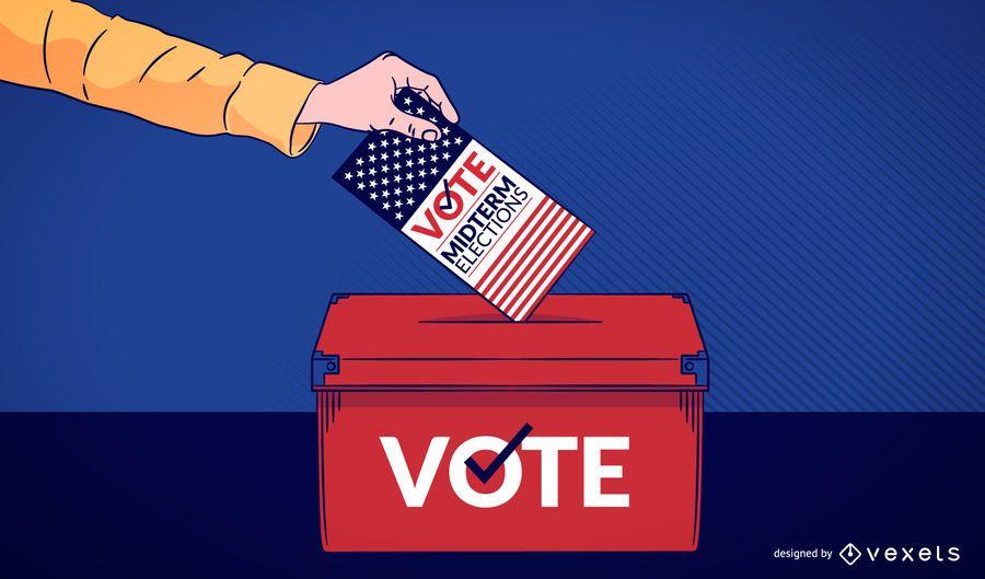 Ilustração de voto de elenco