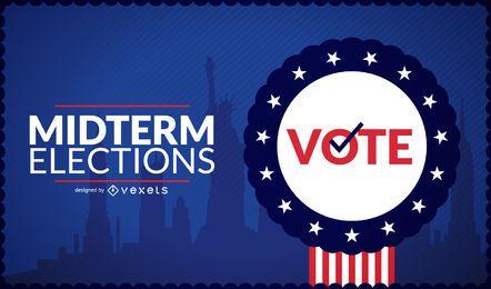 Diseño de insignia de elecciones de medio término