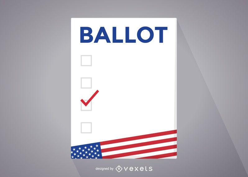 USA elections ballot