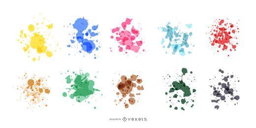 Realistisches Farbspritzset