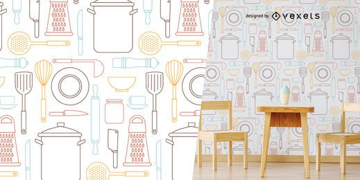 Küchengeräte Muster