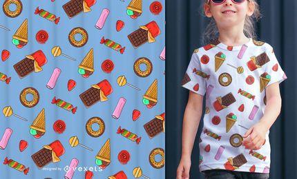 Patrón sin fisuras de ilustración de caramelos