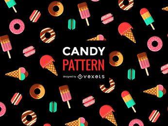 Doce padrão sem emenda de doces