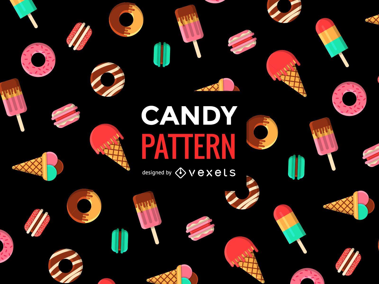 Candy sweet seamless pattern
