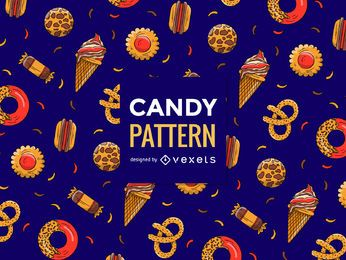 Chocolate candies pattern