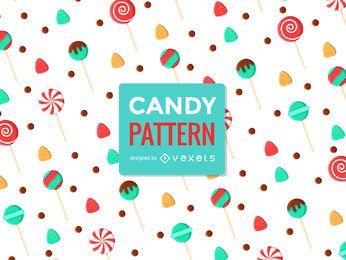 Lollipop dulce patrón sin costuras