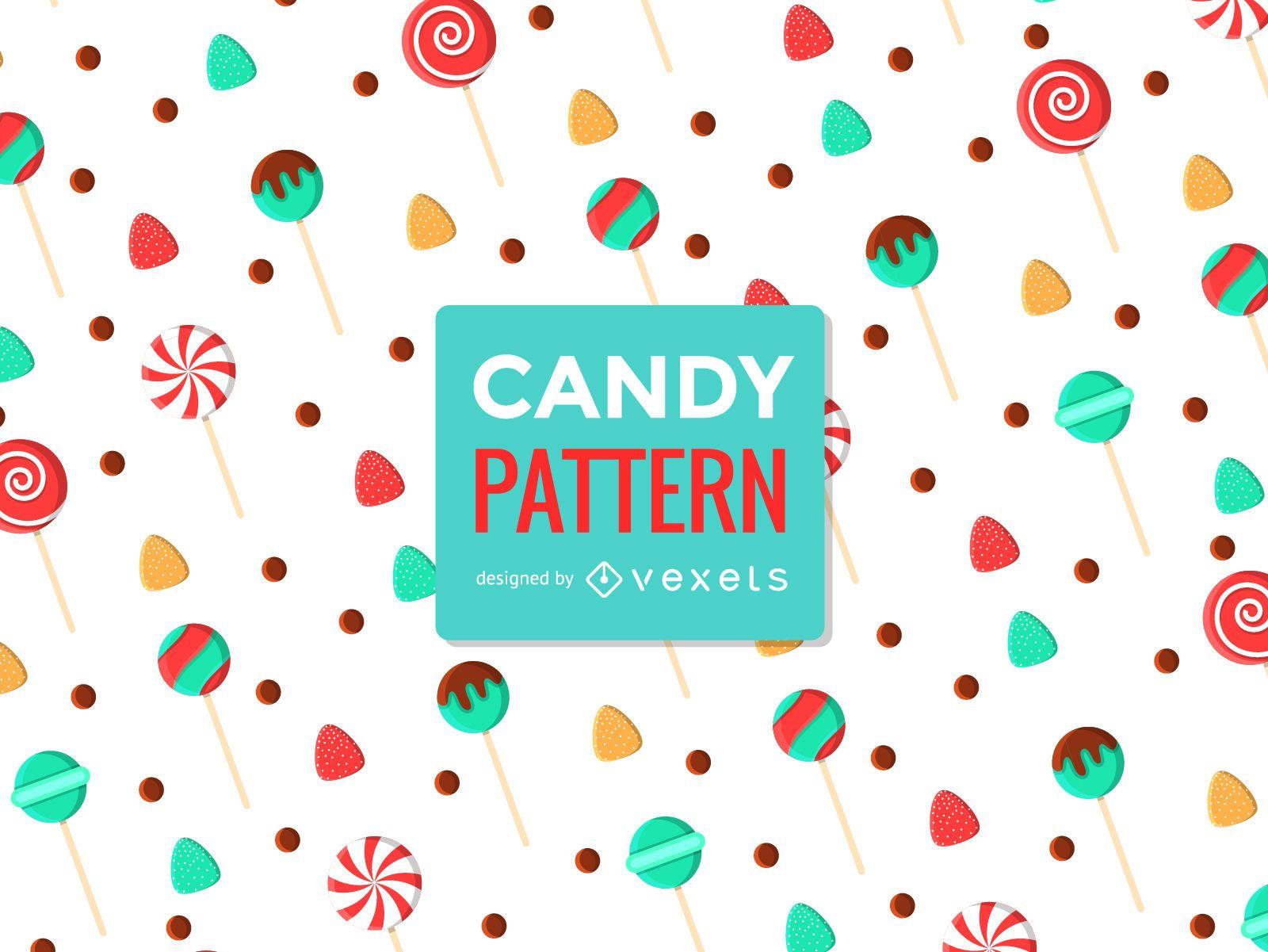Lollipop sweet seamless pattern