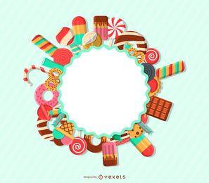 Etiqueta de la insignia de caramelo