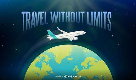 Reisen Sie ohne Grenzen Illustrationshintergrund