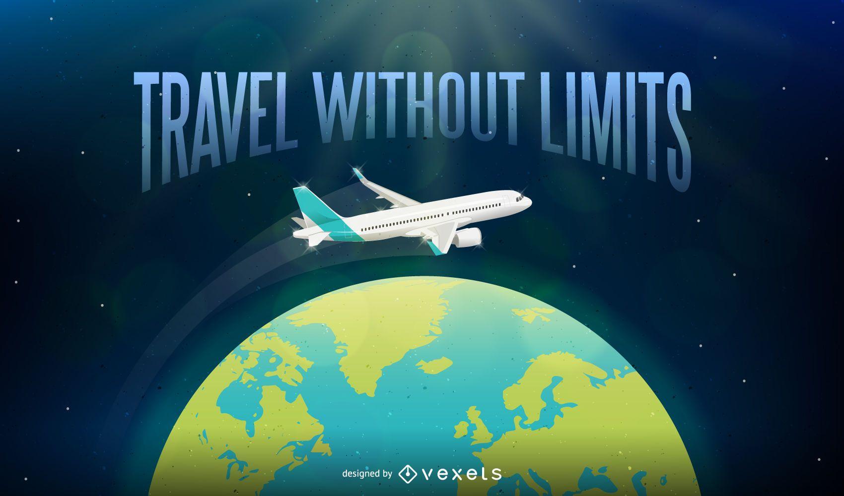 Viajar sin límites ilustración de fondo