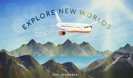Explore new world background