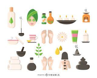Conjunto de ícones de spa