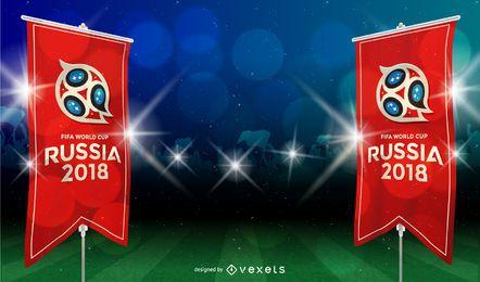 Fundo de Copa do mundo da Rússia 2018