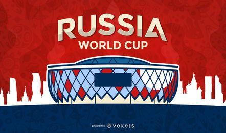 Copa do Mundo de futebol estádio illustation