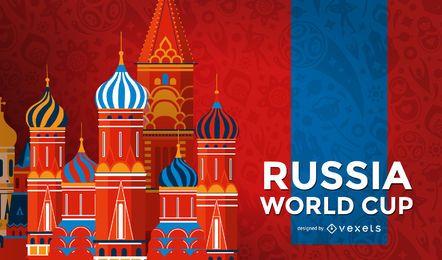 Fondo de hito de la Copa del mundo de Rusia