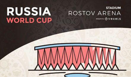 Estádio da copa do mundo de Rostov
