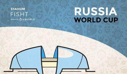 Estádio da copa do mundo Fisht