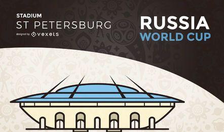 Estadio de la copa mundial de petersburg