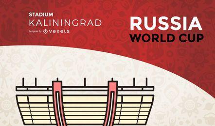 Estadio de la Copa del Mundo de Kaliningrado.
