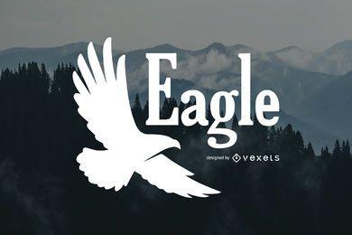 Modelo de logotipo de silhueta de águia