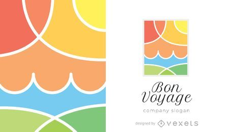 Modelo de logotipo de viagem Bon Voyage