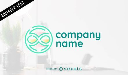 Modelo de logotipo de negócio abstrato