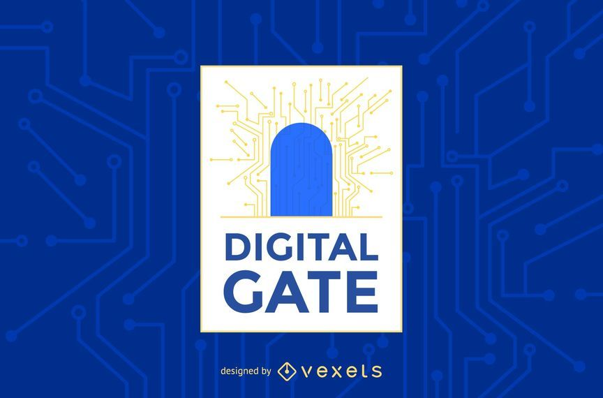 Digital gate logo template