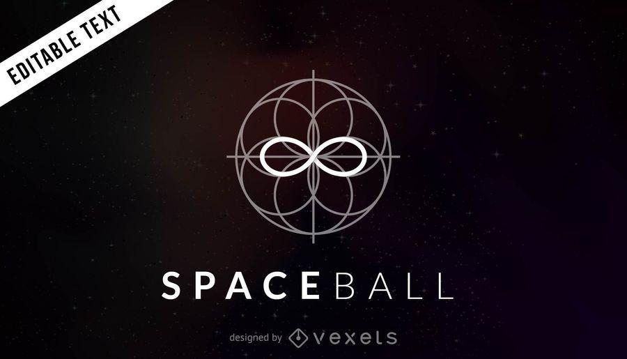 Plantilla de logo de bola espacial
