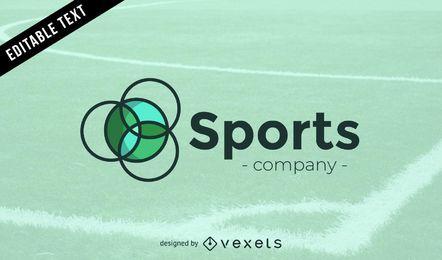 Logo der Sportfirma in Grüntönen