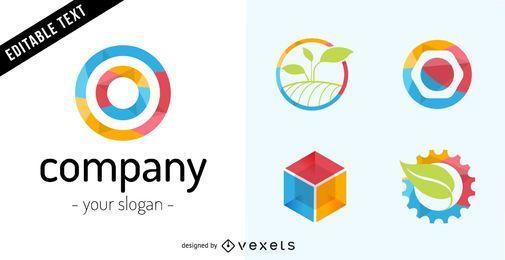 Logo de la empresa ambientado en tonos coloridos.