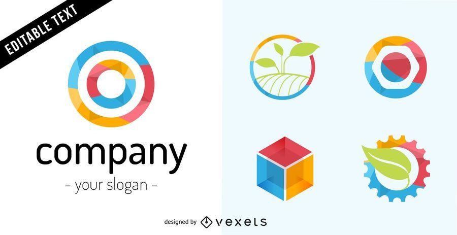 Logotipo da empresa definido em tons coloridos