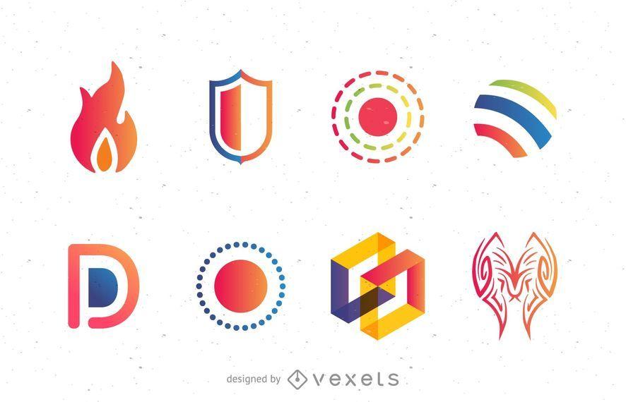 Conjunto de ideias de logotipo