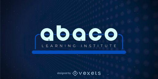 Plantilla de logotipo de ábaco