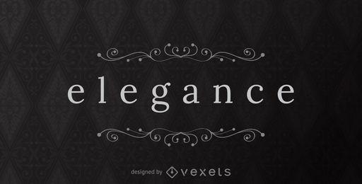 Modelo de logotipo de elegância