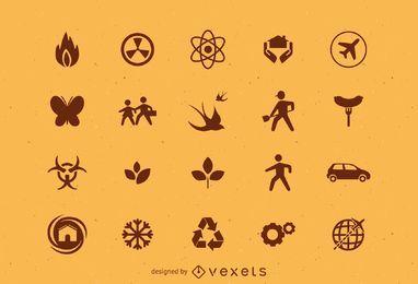 Conjunto de varios iconos