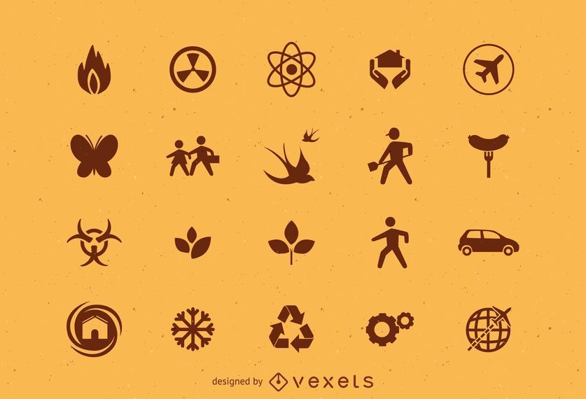 Various icons set