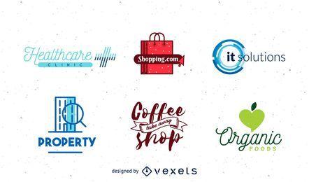 Conjunto de logotipo da empresa