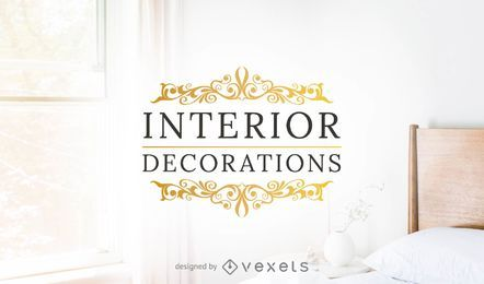 Interior decorations logo template