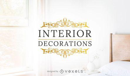 Modelo de logotipo de decorações de interiores