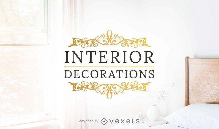 Plantilla de logotipo de decoraciones interiores